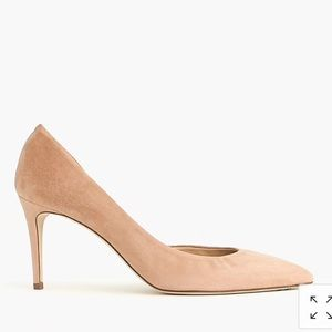 J. Crew Shoes - NWT!! J. Crew Lucie Suede D'Orsay Pumps, (tan) 9.5